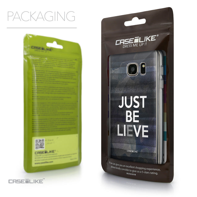 Packaging - CASEiLIKE Samsung Galaxy S7 back cover Quote 2430