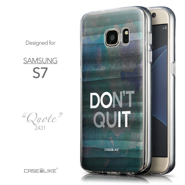 Front & Side View - CASEiLIKE Samsung Galaxy S7 back cover Quote 2431