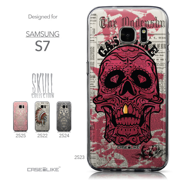 Collection - CASEiLIKE Samsung Galaxy S7 back cover Art of Skull 2523