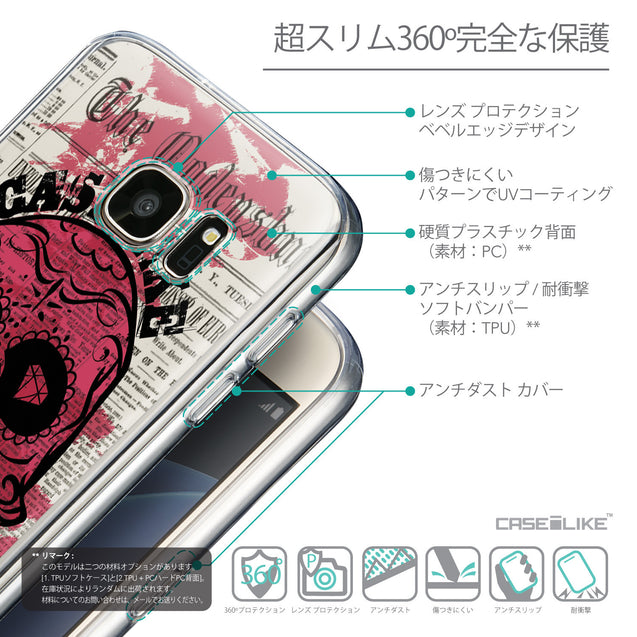 Details in Japanese - CASEiLIKE Samsung Galaxy S7 back cover Art of Skull 2523