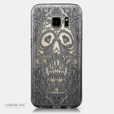 CASEiLIKE Samsung Galaxy S7 back cover Art of Skull 2524