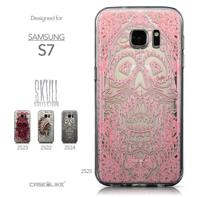 Collection - CASEiLIKE Samsung Galaxy S7 back cover Art of Skull 2525