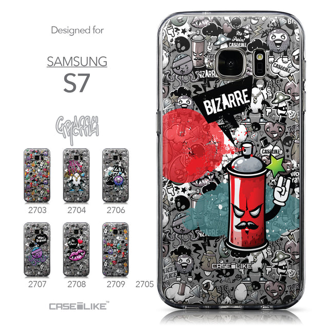 Collection - CASEiLIKE Samsung Galaxy S7 back cover Graffiti 2705