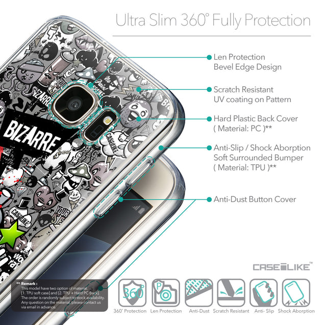 Details in English - CASEiLIKE Samsung Galaxy S7 back cover Graffiti 2705