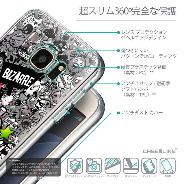 Details in Japanese - CASEiLIKE Samsung Galaxy S7 back cover Graffiti 2705