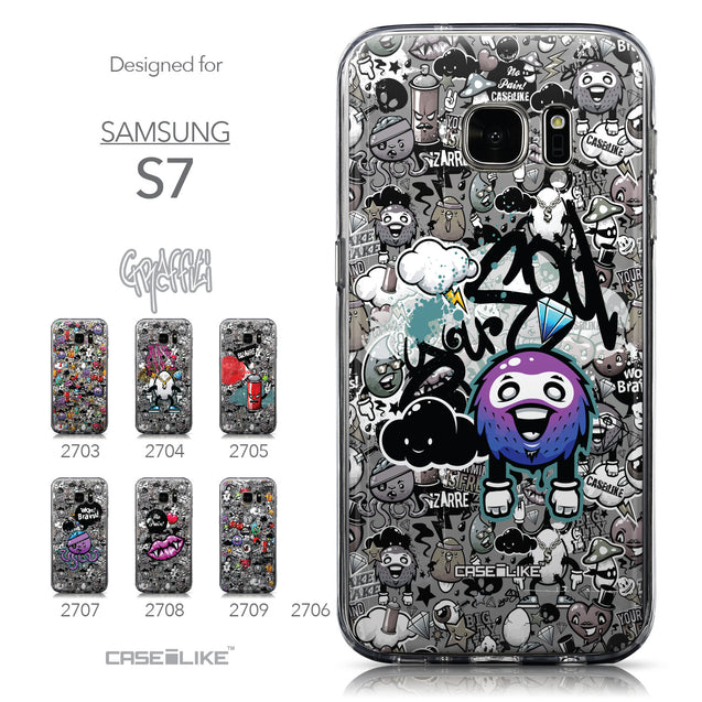 Collection - CASEiLIKE Samsung Galaxy S7 back cover Graffiti 2706