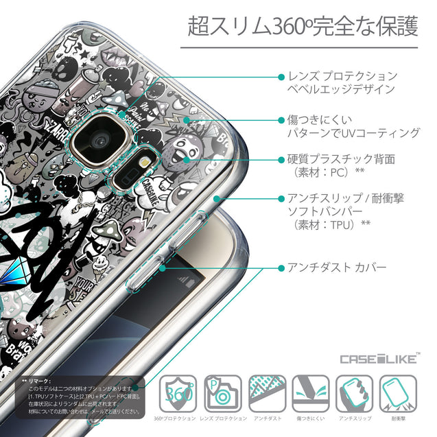 Details in Japanese - CASEiLIKE Samsung Galaxy S7 back cover Graffiti 2706