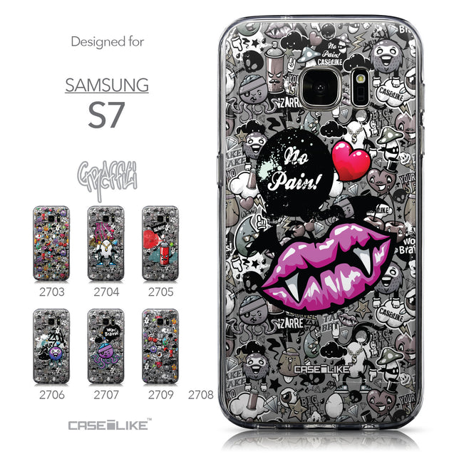 Collection - CASEiLIKE Samsung Galaxy S7 back cover Graffiti 2708