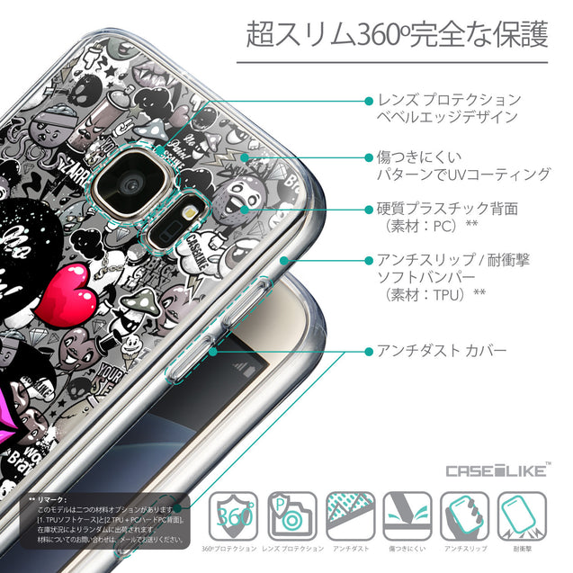 Details in Japanese - CASEiLIKE Samsung Galaxy S7 back cover Graffiti 2708