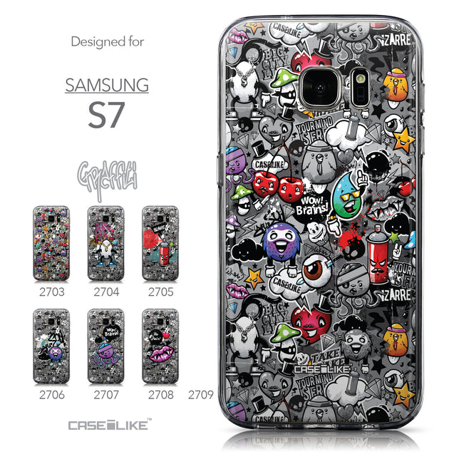 Collection - CASEiLIKE Samsung Galaxy S7 back cover Graffiti 2709