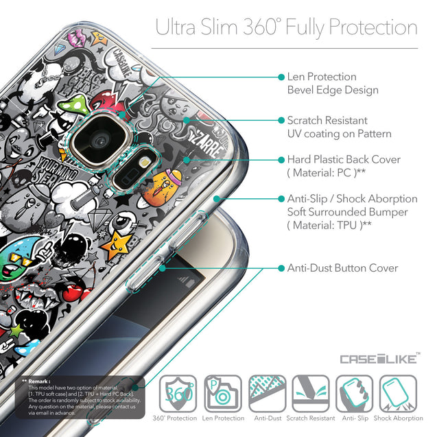 Details in English - CASEiLIKE Samsung Galaxy S7 back cover Graffiti 2709
