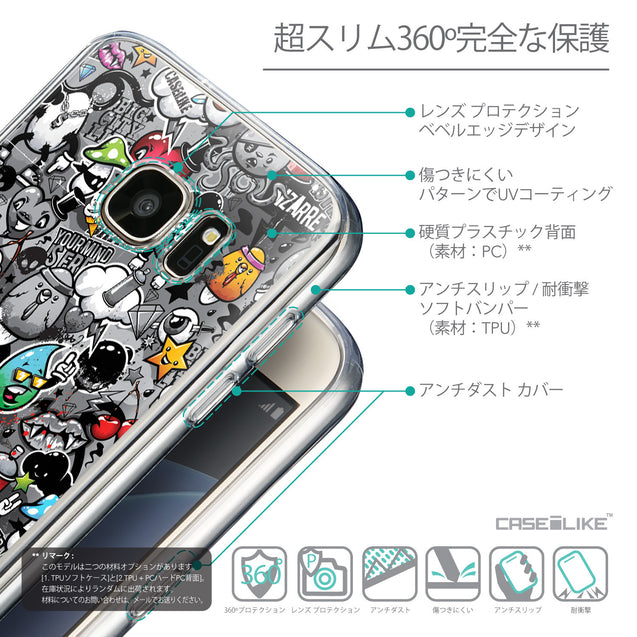 Details in Japanese - CASEiLIKE Samsung Galaxy S7 back cover Graffiti 2709