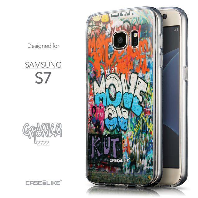 Front & Side View - CASEiLIKE Samsung Galaxy S7 back cover Graffiti 2722