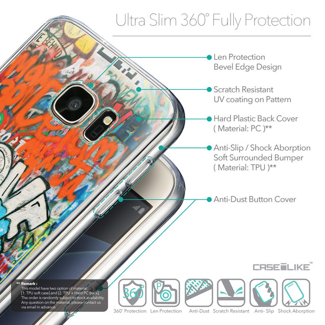 Details in English - CASEiLIKE Samsung Galaxy S7 back cover Graffiti 2722