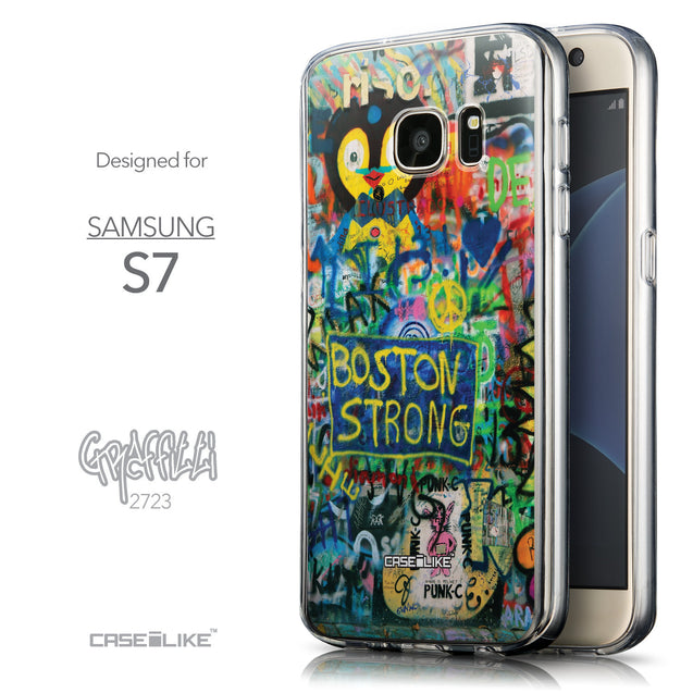 Front & Side View - CASEiLIKE Samsung Galaxy S7 back cover Graffiti 2723