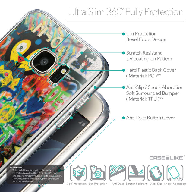 Details in English - CASEiLIKE Samsung Galaxy S7 back cover Graffiti 2723