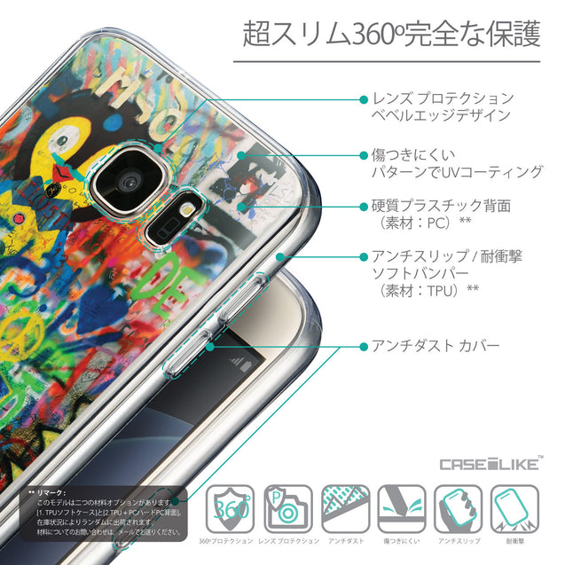 Details in Japanese - CASEiLIKE Samsung Galaxy S7 back cover Graffiti 2723