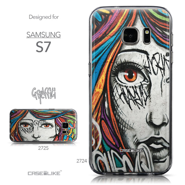 Collection - CASEiLIKE Samsung Galaxy S7 back cover Graffiti Girl 2724