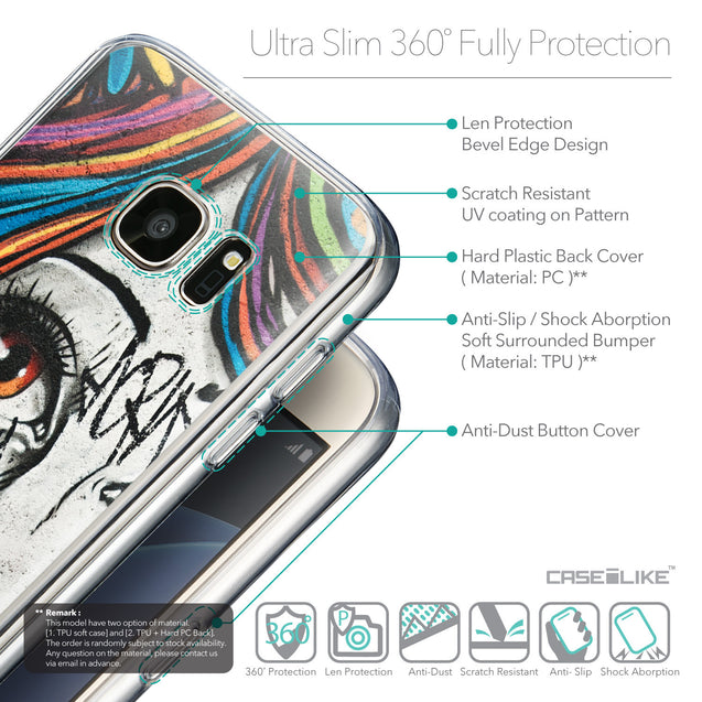 Details in English - CASEiLIKE Samsung Galaxy S7 back cover Graffiti Girl 2724