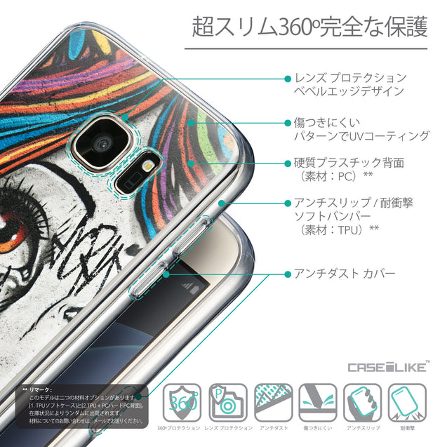 Details in Japanese - CASEiLIKE Samsung Galaxy S7 back cover Graffiti Girl 2724