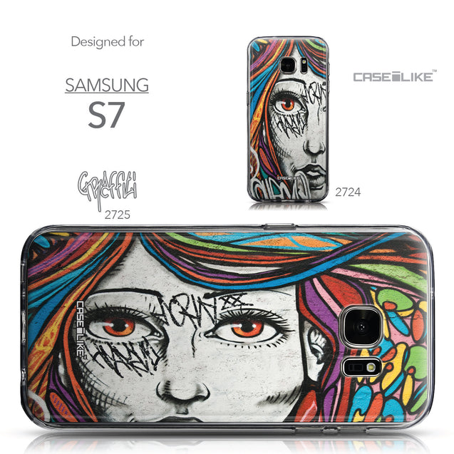 Collection - CASEiLIKE Samsung Galaxy S7 back cover Graffiti Girl 2725