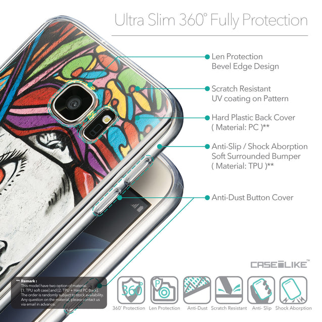 Details in English - CASEiLIKE Samsung Galaxy S7 back cover Graffiti Girl 2725