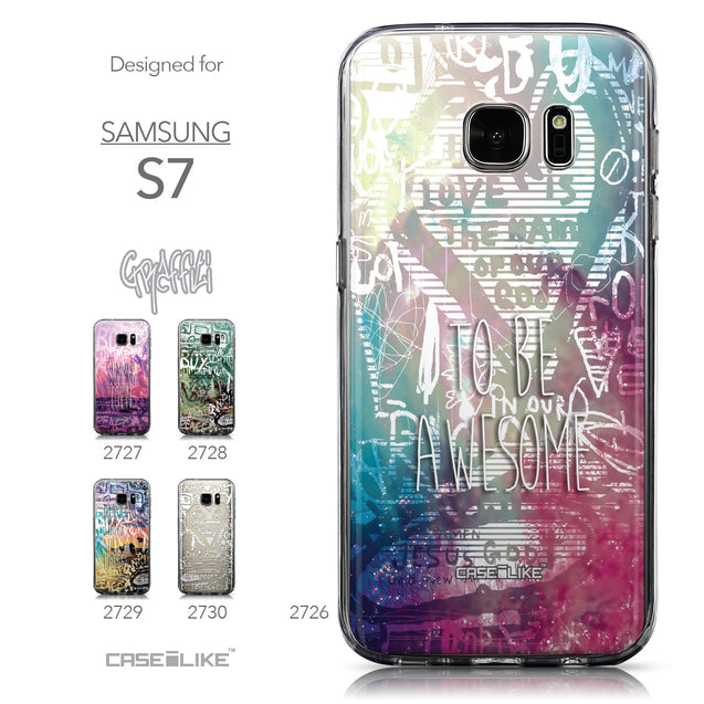 Collection - CASEiLIKE Samsung Galaxy S7 back cover Graffiti 2726