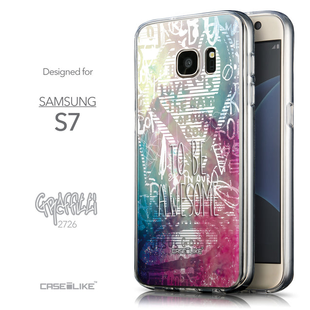 Front & Side View - CASEiLIKE Samsung Galaxy S7 back cover Graffiti 2726