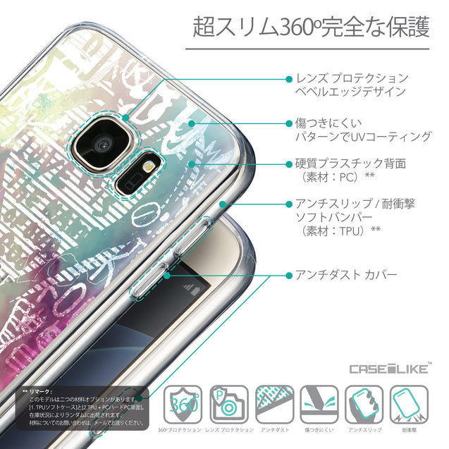 Details in Japanese - CASEiLIKE Samsung Galaxy S7 back cover Graffiti 2726