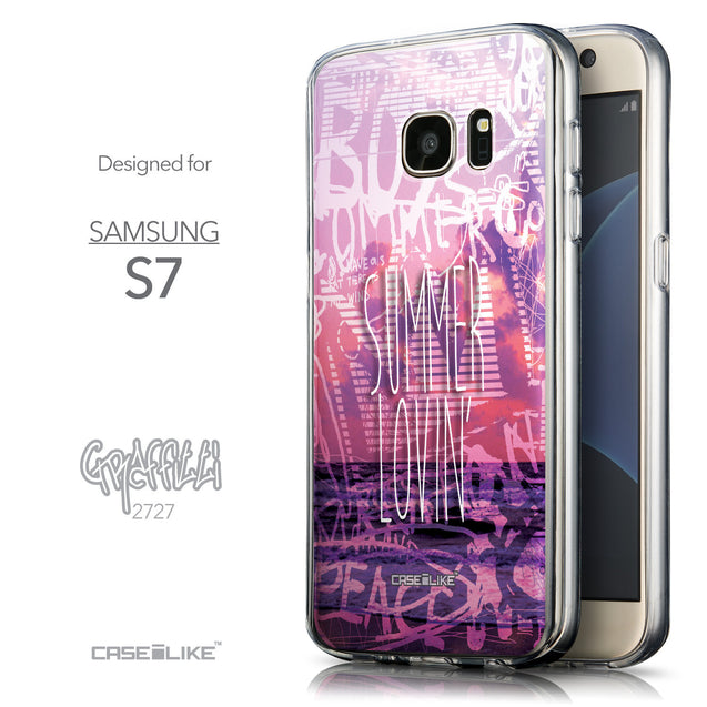 Front & Side View - CASEiLIKE Samsung Galaxy S7 back cover Graffiti 2727