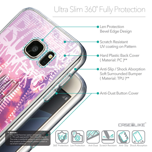 Details in English - CASEiLIKE Samsung Galaxy S7 back cover Graffiti 2727