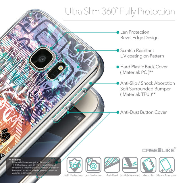Details in English - CASEiLIKE Samsung Galaxy S7 back cover Graffiti 2729
