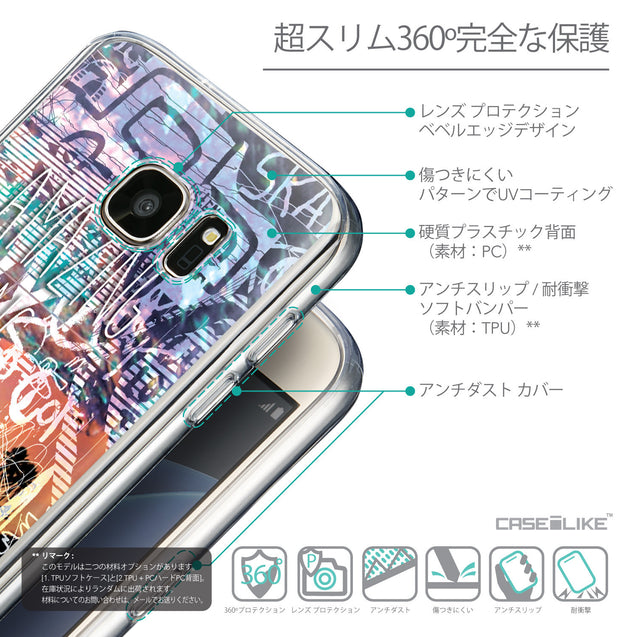 Details in Japanese - CASEiLIKE Samsung Galaxy S7 back cover Graffiti 2729