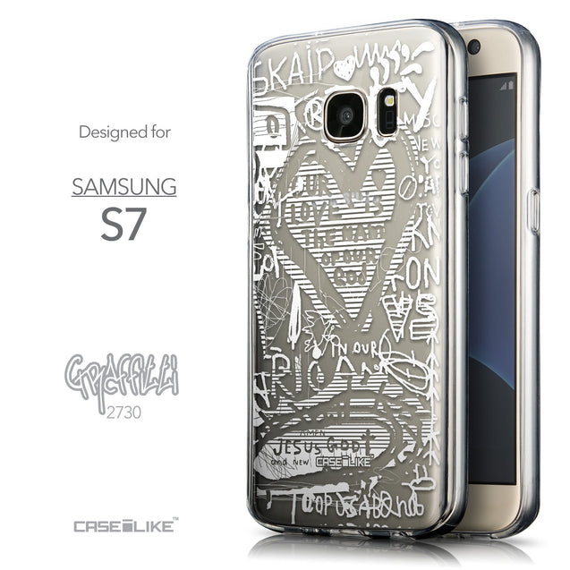 Front & Side View - CASEiLIKE Samsung Galaxy S7 back cover Graffiti 2730
