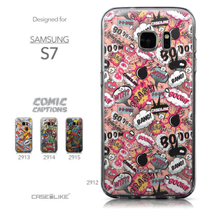 Collection - CASEiLIKE Samsung Galaxy S7 back cover Comic Captions Pink 2912
