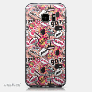 CASEiLIKE Samsung Galaxy S7 back cover Comic Captions Pink 2912
