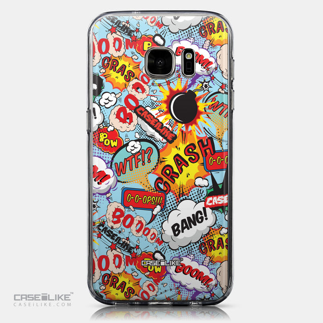 CASEiLIKE Samsung Galaxy S7 back cover Comic Captions Blue 2913