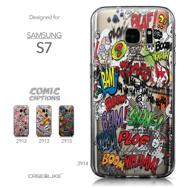 Collection - CASEiLIKE Samsung Galaxy S7 back cover Comic Captions 2914
