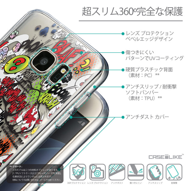 Details in Japanese - CASEiLIKE Samsung Galaxy S7 back cover Comic Captions 2914