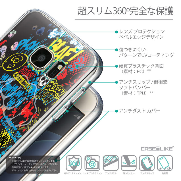 Details in Japanese - CASEiLIKE Samsung Galaxy S7 back cover Comic Captions Black 2915