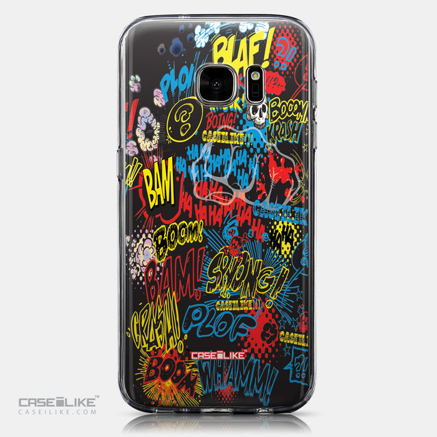 CASEiLIKE Samsung Galaxy S7 back cover Comic Captions Black 2915
