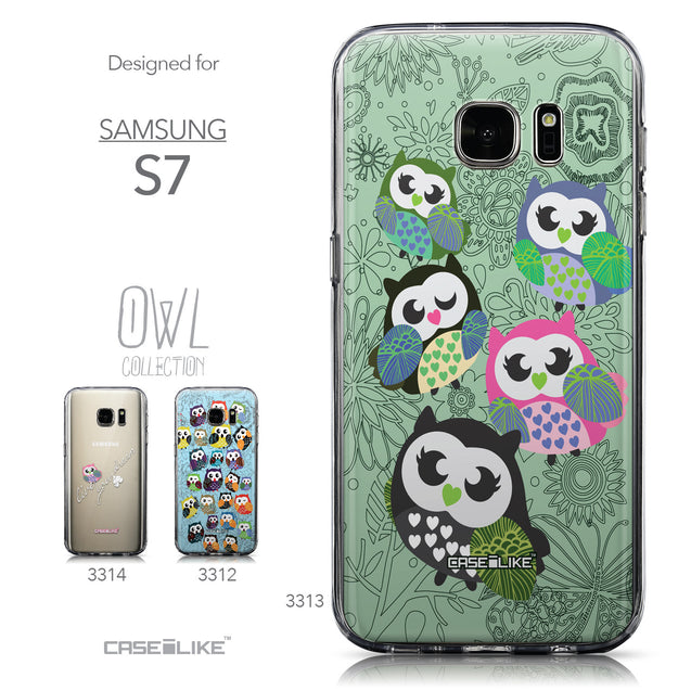 Collection - CASEiLIKE Samsung Galaxy S7 back cover Owl Graphic Design 3313