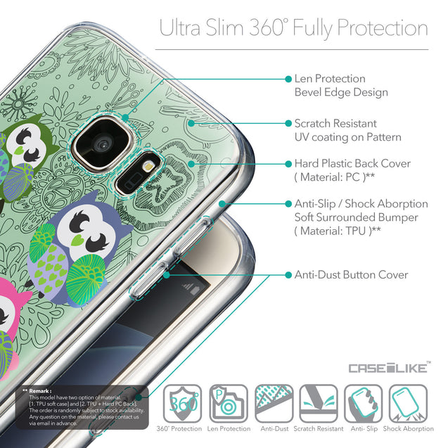 Details in English - CASEiLIKE Samsung Galaxy S7 back cover Owl Graphic Design 3313