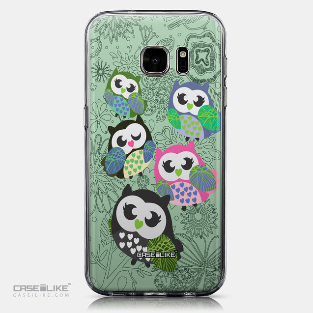 CASEiLIKE Samsung Galaxy S7 back cover Owl Graphic Design 3313