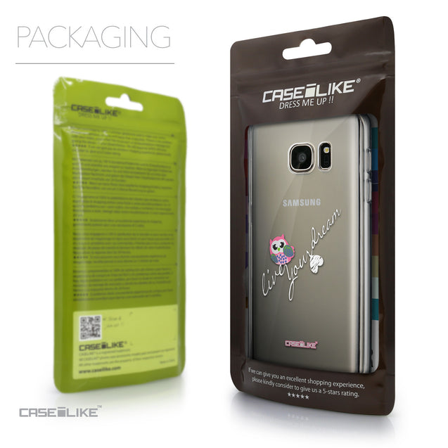 Packaging - CASEiLIKE Samsung Galaxy S7 back cover Owl Graphic Design 3314
