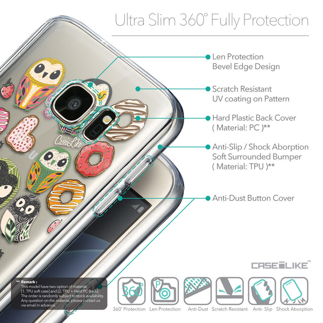Details in English - CASEiLIKE Samsung Galaxy S7 back cover Owl Graphic Design 3315