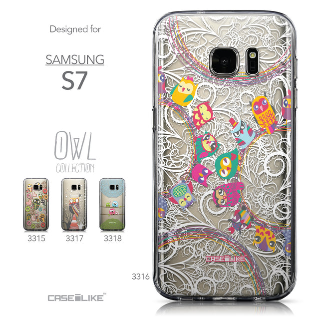 Collection - CASEiLIKE Samsung Galaxy S7 back cover Owl Graphic Design 3316