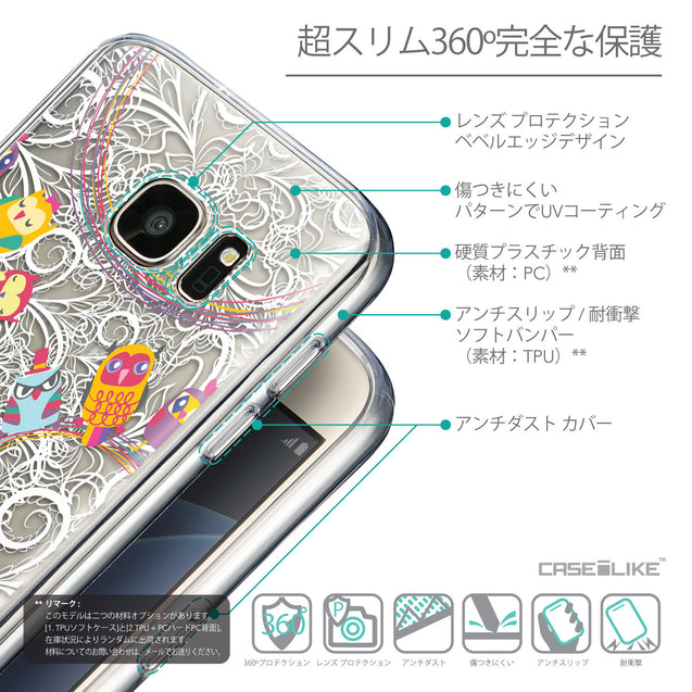 Details in Japanese - CASEiLIKE Samsung Galaxy S7 back cover Owl Graphic Design 3316