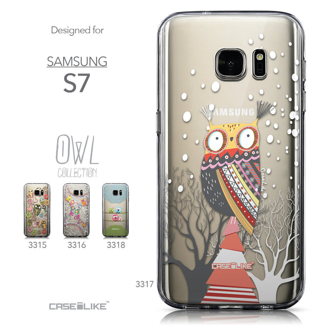Collection - CASEiLIKE Samsung Galaxy S7 back cover Owl Graphic Design 3317