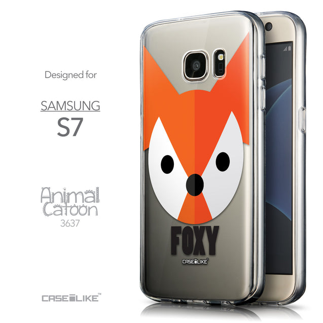 Front & Side View - CASEiLIKE Samsung Galaxy S7 back cover Animal Cartoon 3637